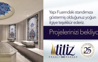 Titiz Granit & Mermer - Yapı Fuarı 2016 Teşekkür